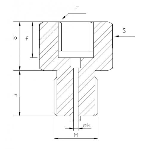 Adapteris G3/8F – G1/2M