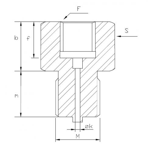 Adapteris M12F – G1/2M