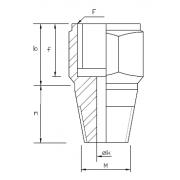 Adapteris M20x1.5F – 1/2 NPT M