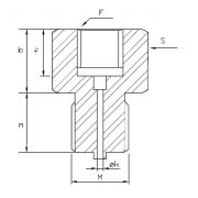Adapteris M20x1.5F – G1/2M