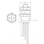 Elektrodinis lygio jutiklis LJ-E5 (5 elektrodų)