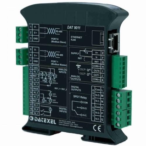 Programuojamas signalų ir duomenų keitiklis su papildomais įėjimais ir išėjimais DAT9011