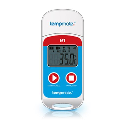 Daugkartinis Tempmate-M1 temperatūros duomenų kaupiklis