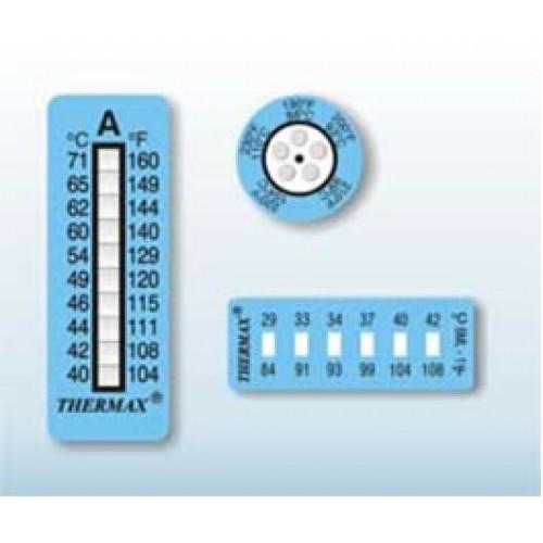 Maksimalios paviršiaus temperatūros indikatoriai - lipdukai