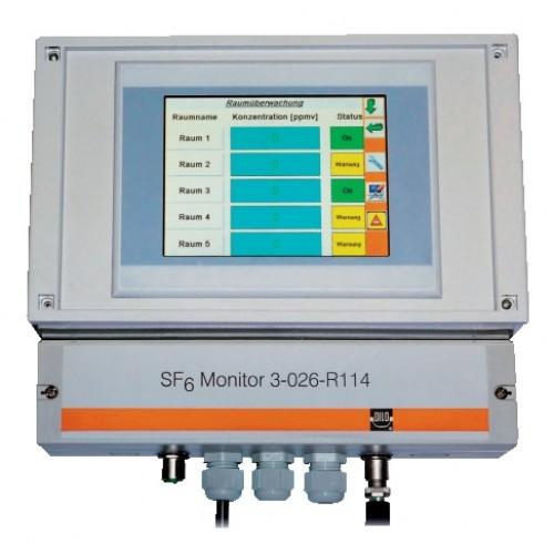 SF6 dujų kontrolės bazinė stotelė SF6-Network Monitor
