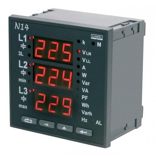 Energetinio tinklo parametrų analizatorius N14