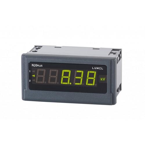 Įtampos (DC), srovės (0/4...20 mA) arba temperatūros (TC/RTD) matuoklis N20PLUS su RS-485 sąsaja