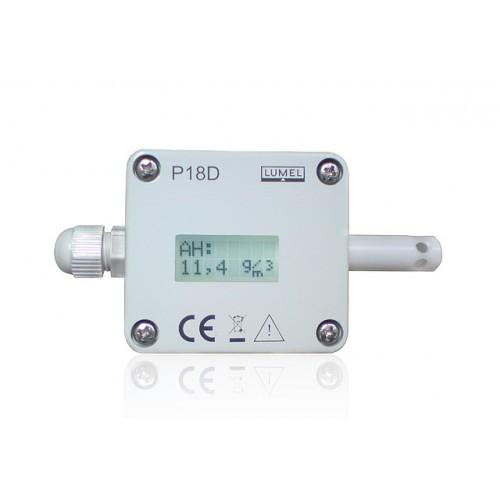 Santykinės drėgmės ir temperatūros keitiklis P18D (su ekranu)