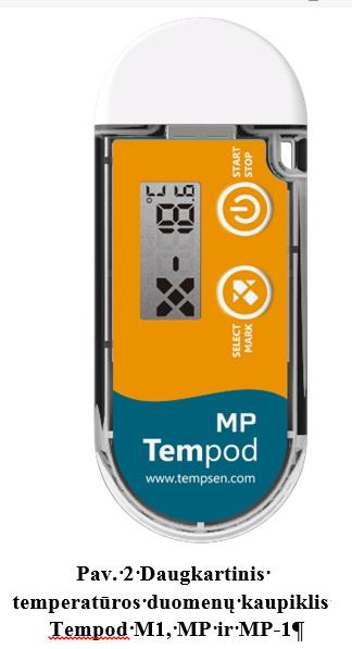 Daugkartinis temperatūros duomenų kaupiklis Tempod MP šaltai grandinei